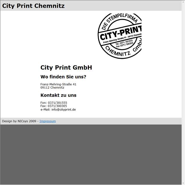 City Print Stempel U Visitenkarten In Chemnitz