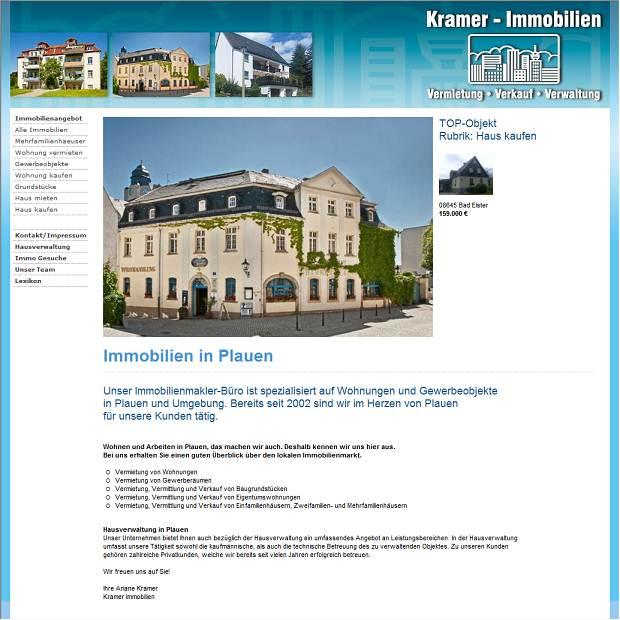Kramer Immobilien immobilien vermietung und verwaltung kramer in plauen branchenbuch
