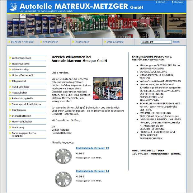 Autoteile Matreux-Metzger GmbH, Autoteilehandel in Lohr ...