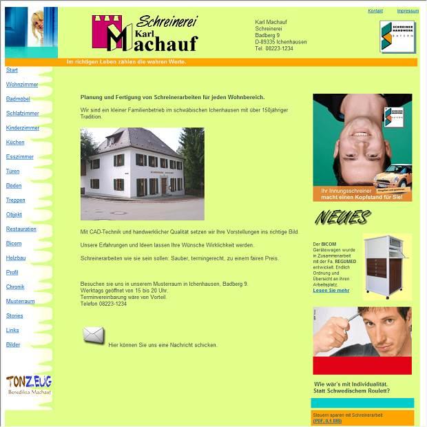 Karl Machauf, Möbel- und Bauschreinerei in Ichenhausen ...