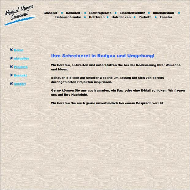 Glaserei Rodgau schreinerei u glaserei michael usinger in rodgau branchenbuch