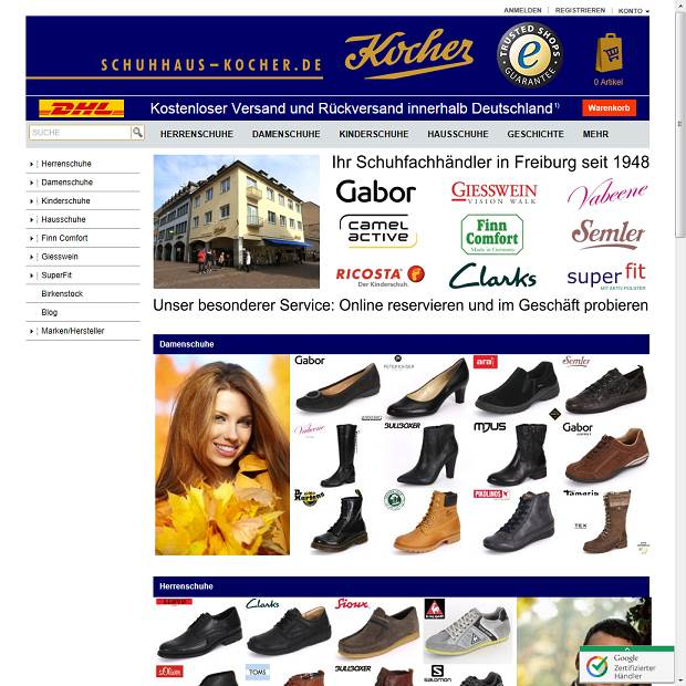 Schuhhaus Kocher KG in Freiburg Branchenbuch Deutschland