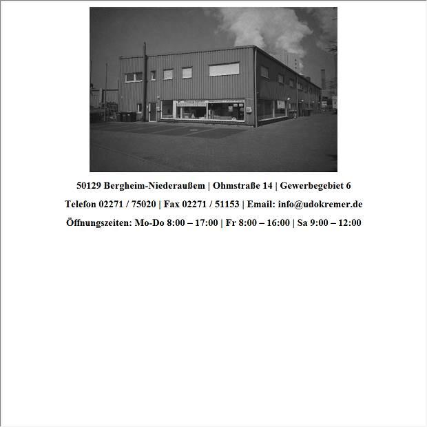 Sanitärhandel  Kremer Udo GmbH, Heizungs- und Sanitärhandel in Bergheim ...