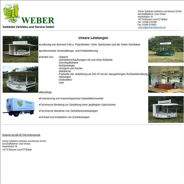 Weber Getränke-Vertriebs-und Service GmbH in Milower Land ...